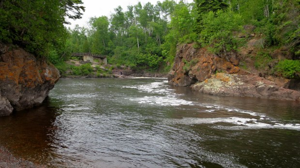 Mouth of the river, Temperance River Gorge Trail, Temperance River State Park, Minnesota
