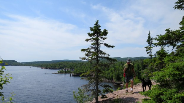 Tom and Abby, Shovel Point Trail, Tettegouche State Park, Minnesota