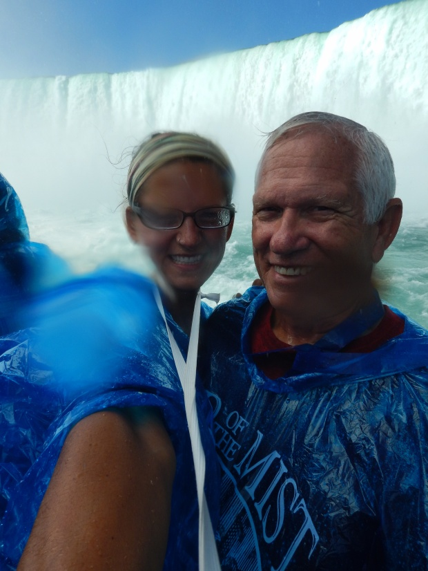 Pretty wet on Maid of the Mist, Niagara Falls