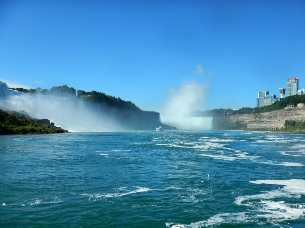 Looking back on Niagara Falls from Maid of the Mist