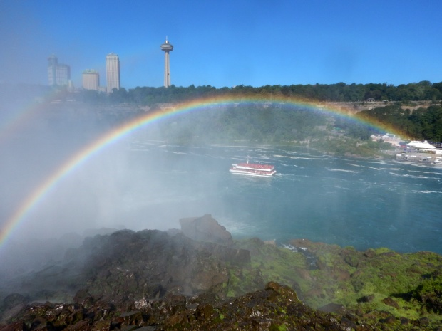 Rainbow over the Niagara River Gorge, Niagara Falls State Park, New York