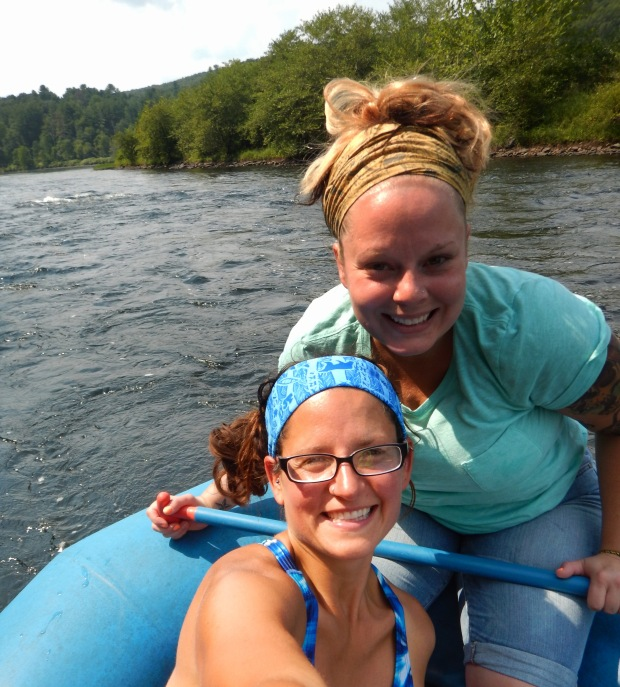 Tina and I, Delaware River, Pennsylvania/New York