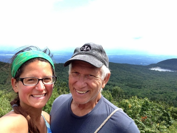 Tom and I on top of North Mountain, Catskills, New York