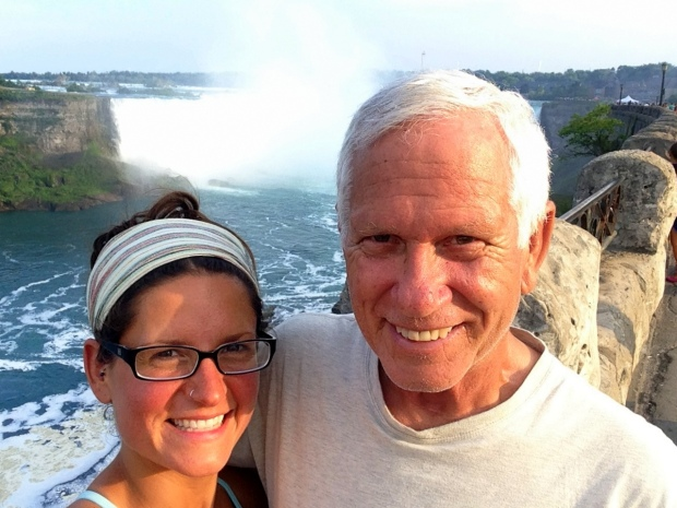 Tom and I at Niagara Falls, Ontario, Canada