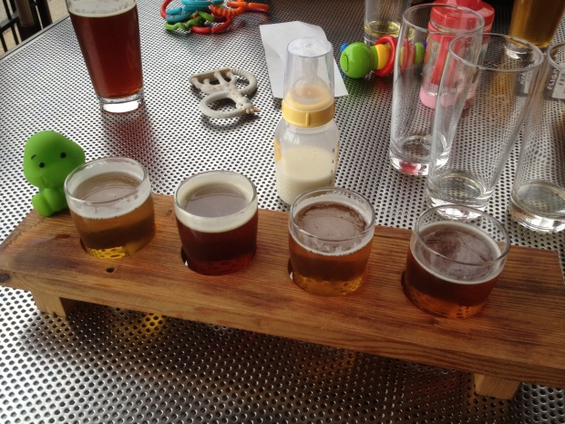 Baby toys, milk, and beer at Boulevard Brewery in May, Kansas City, Missouri