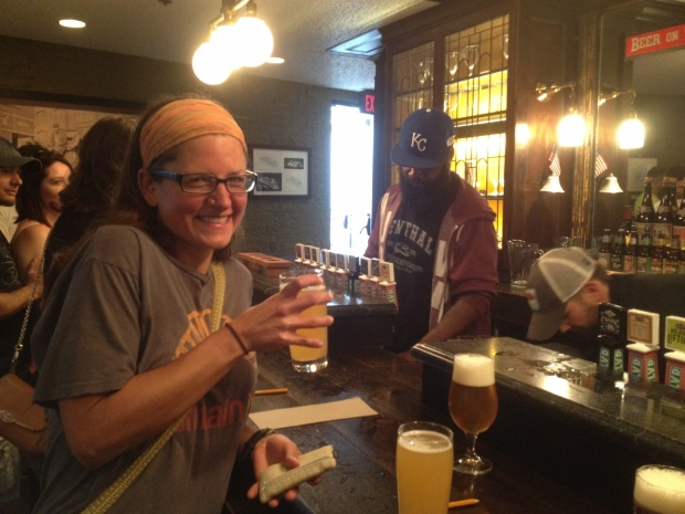 May brewery trip with a lemon-ginger radler (photo by Amy), Boulevard Brewery, Kansas City, Missouri