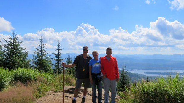 Robert, Tom, and I at top of Snowy Mountain, Adirondacks, New York