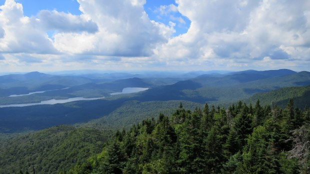 View from atop the fire tower, Snowy Mountain, Adirondacks, New York