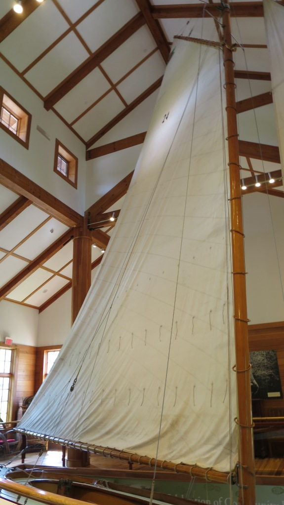 Water Witch, a racing sloop built in 1900, Adirondack Museum, Blue Mountain Lake, New York