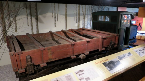 Linn tractor used for hauling logs, Adirondack Museum, Blue Mountain Lake, New York