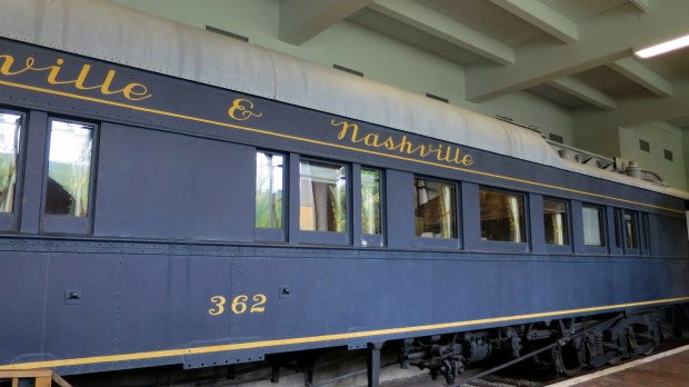 Private Pullman rail car built 1890, Adirondack Museum, Blue Mountain Lake, New York