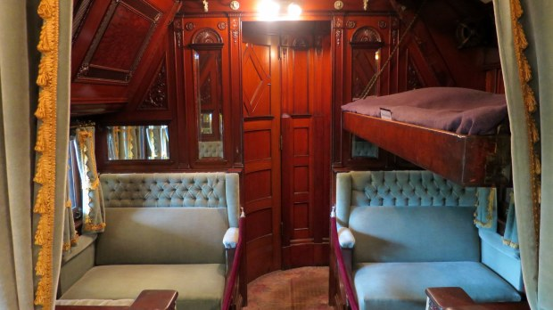 Interior of the rail car, Adirondack Museum, Blue Mountain Lake, New York