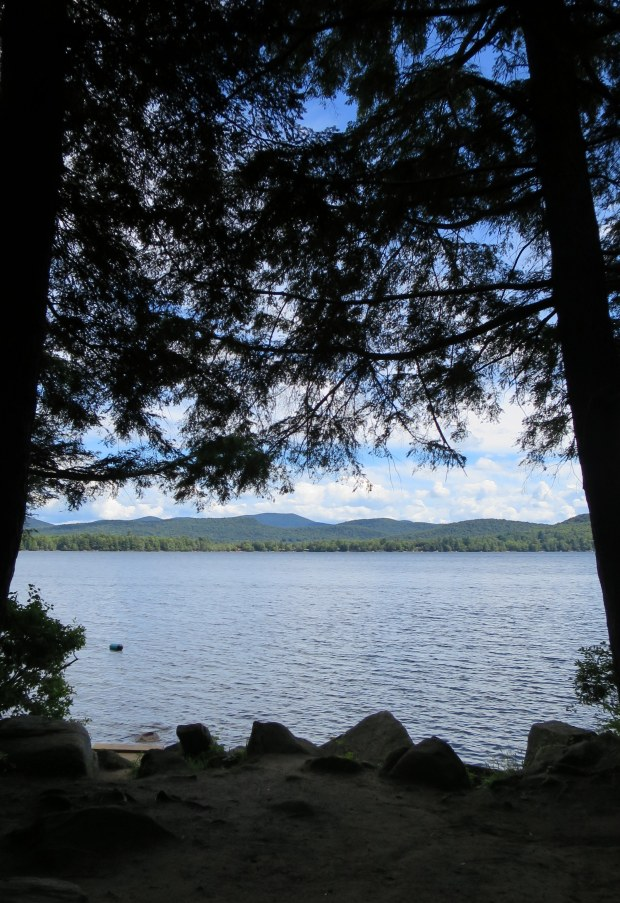 View from camp on Sacandaga Lake, Moffitt Beach, New York