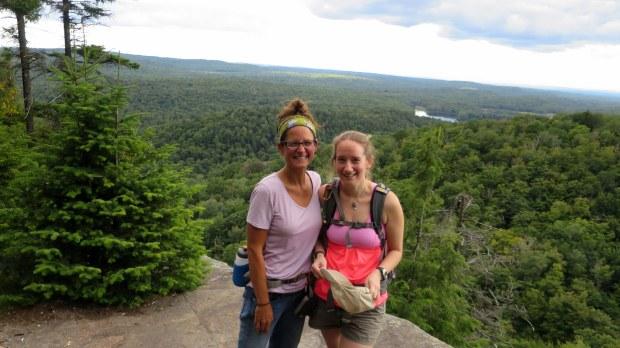 Rachel and I posing, Good Luck Lake Trail, Adirondacks, New York