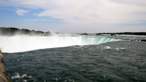 Just above Horseshoe Falls, Niagara Falls, Ontario, Canada
