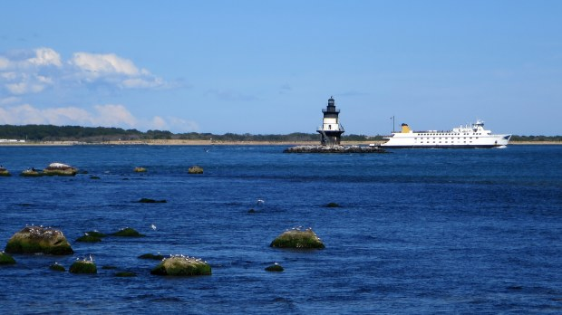 Ferry and Orient Point Lighthouse, Long Island, New York