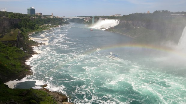 Looking downriver from Niagara Falls, Ontario, Canada