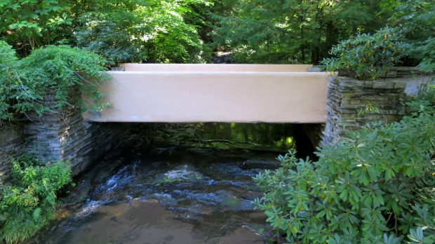 Bridge on the property, Fallingwater, Mill Run, Pennsylvania
