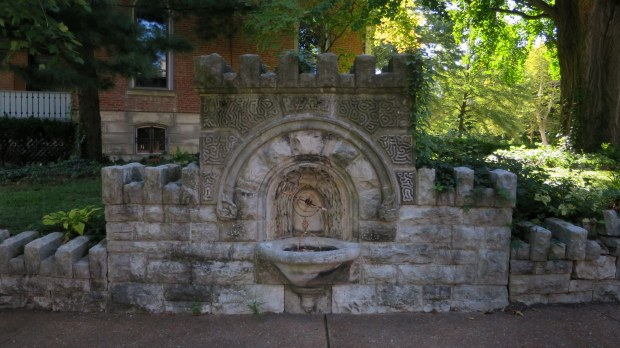 Fountain in Lafayette Square, St. Louis, Missouri