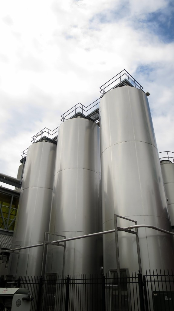 Brewing tanks at Boulevard Brewery, Kansas City, Missouri