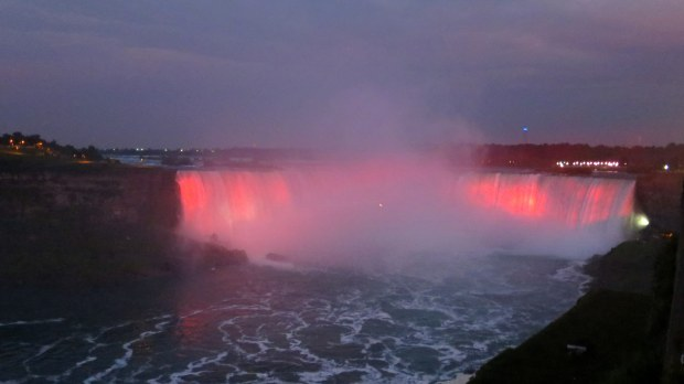 Lights at Horseshoe Falls, Niagara Falls, Ontario, Canada