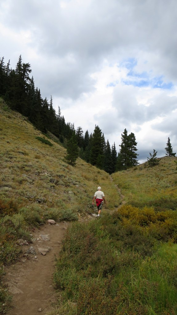 Tom on the Gore Range Trail, White River National Forest, Colorado