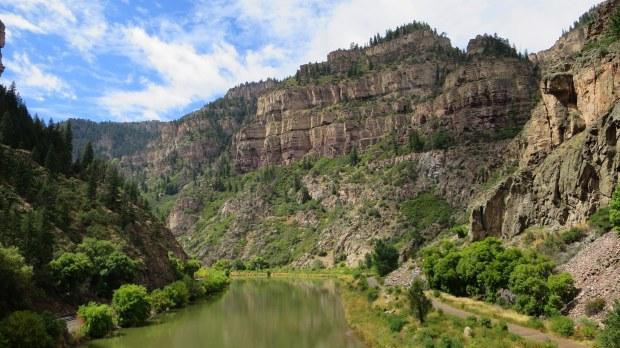 Glenwood Canyon on I-70, Colorado