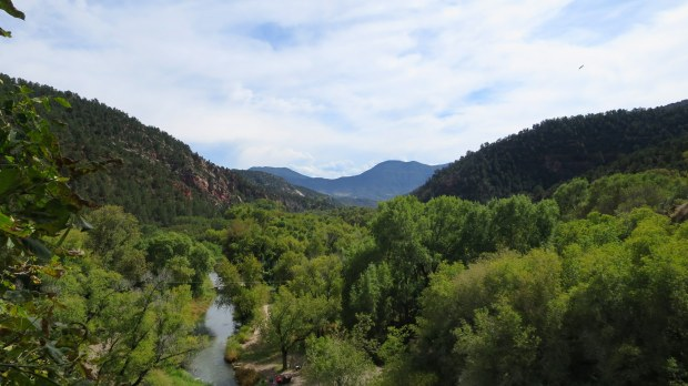Another view of the valley below, Coyote Trail, Rifle Falls State Park, Colorado