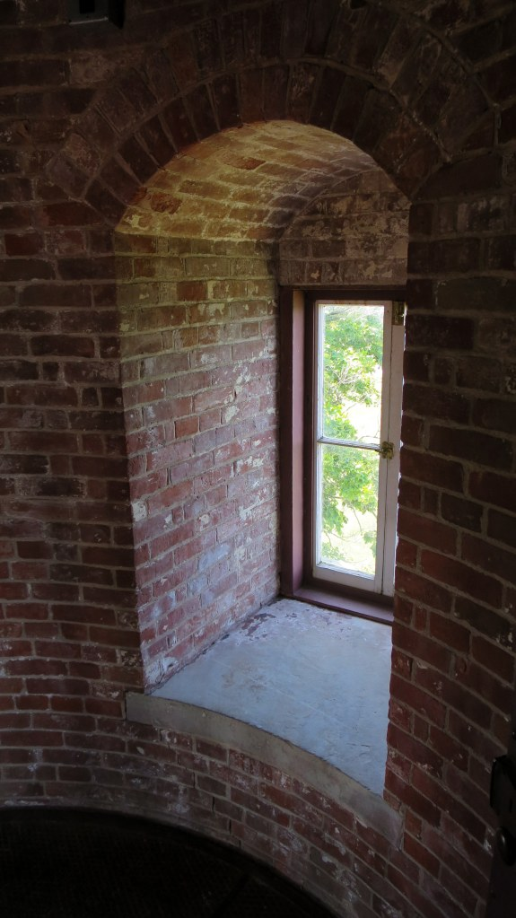 Tower window, Thirty Mile Point Lighthouse, Golden Hill State Park, New York