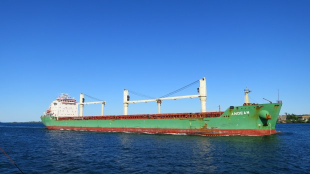 Tanker on the St. Lawrence, Thousand Islands Region, New York and Ontario