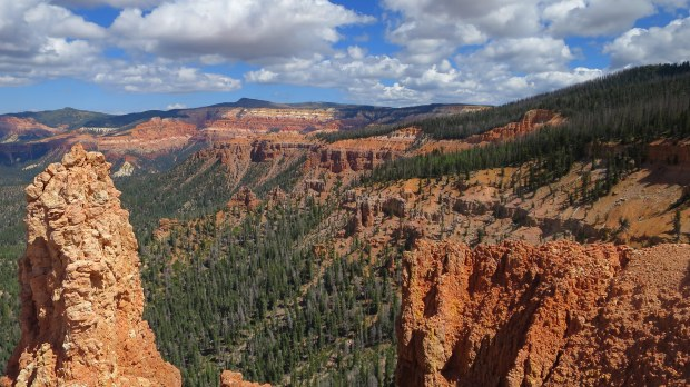 Blowhard Hollow from rim, Blowhard Trail, Dixie National Forest, Utah