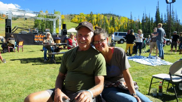 Tom and I at Oktoberfest, Brian Head, Utah