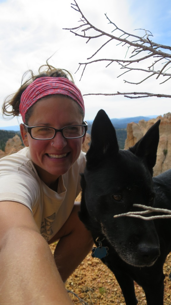 Abby and I, Virgin River Rim Trail, Dixie National Forest, Utah