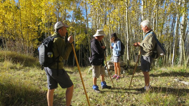 Rest stop: Tim, Terry, Nancy, and Tom, Rattlesnake Trail, Ashdown Gorge Wilderness, Dixie National Forest, Utah
