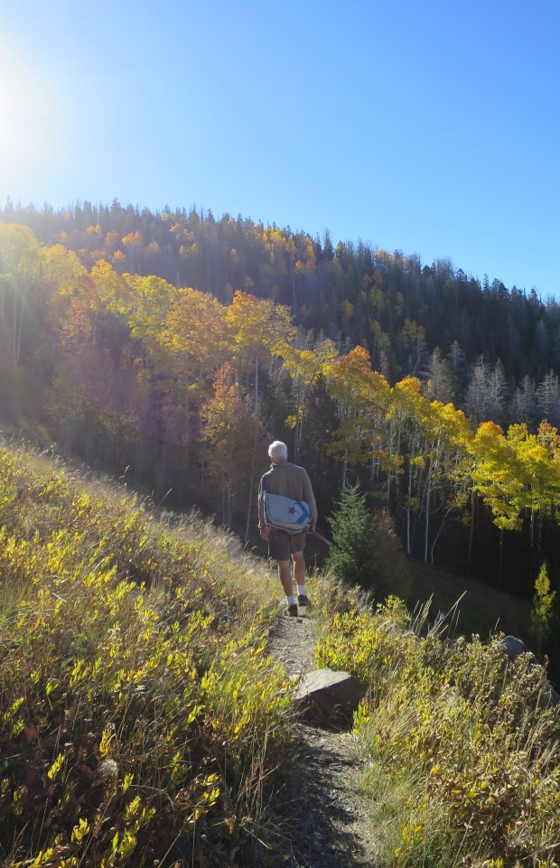 Tom on the Rattlesnake Trail, Ashdown Gorge Wilderness, Dixie National Forest, Utah