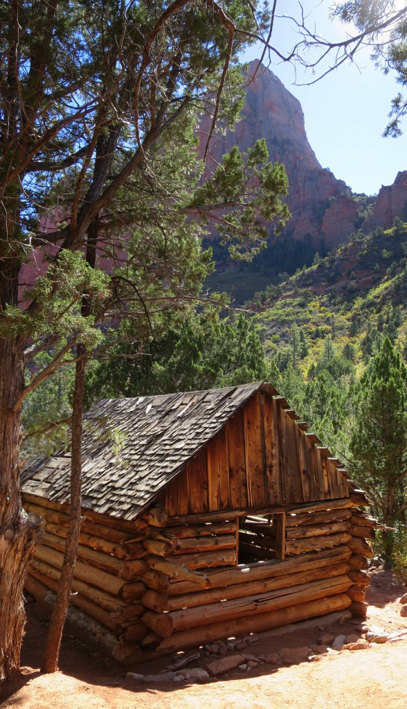 Larson cabin, Taylor Creek Trail, Kolob Canyon, Zion National Park, Utah