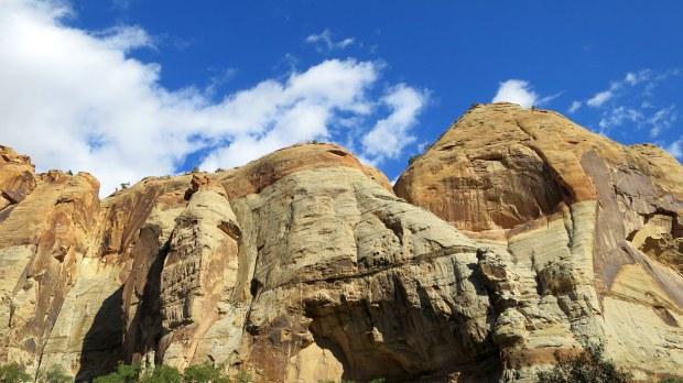 Canyon walls, Lower Calf Creek Falls Trail, Grand Staircase-Escalante National Monument, Utah