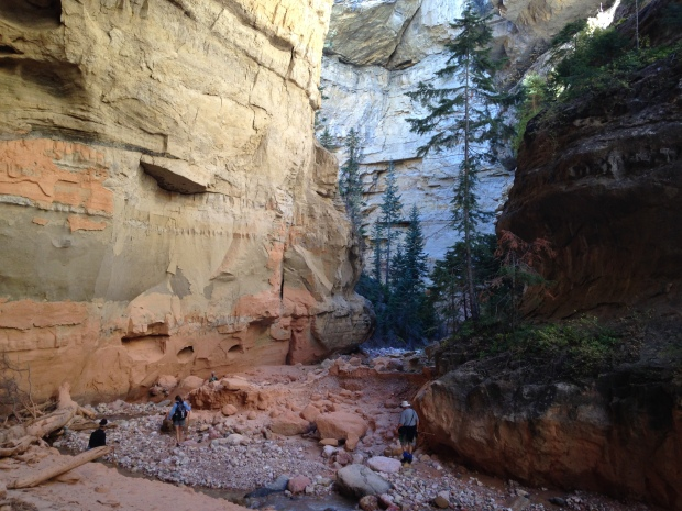 Tom's photo of us in Ashdown Gorge Wilderness, Dixie National Forest, Utah