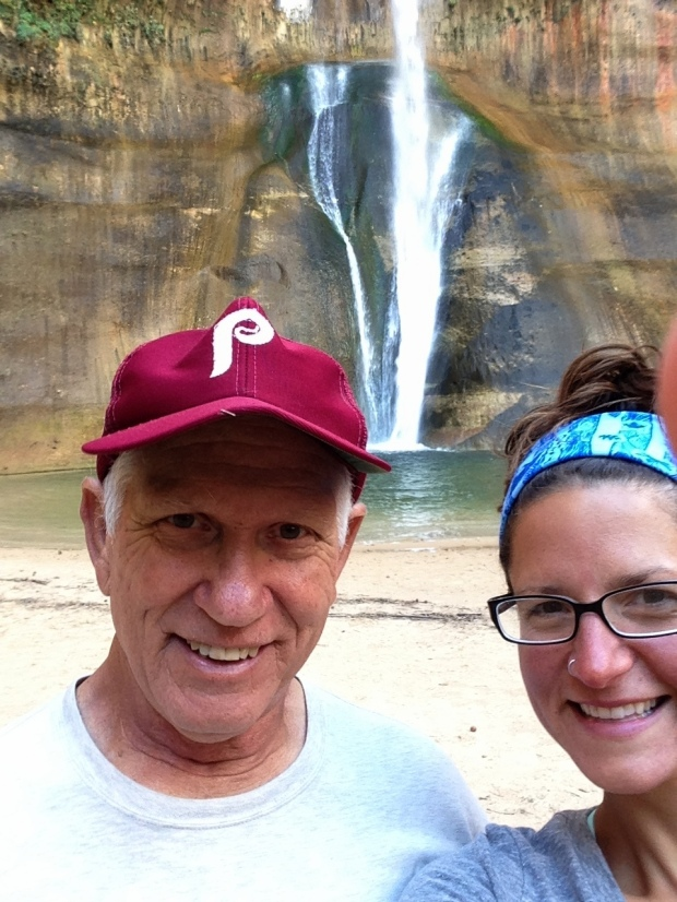 Tom and I at Lower Calf Creek Falls, Grand Staircase-Escalante National Monument, Utah