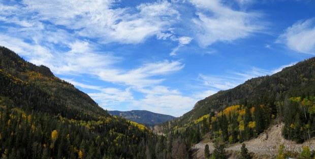 Driving up SR-153, Fishlake Mountains National Forest, Utah