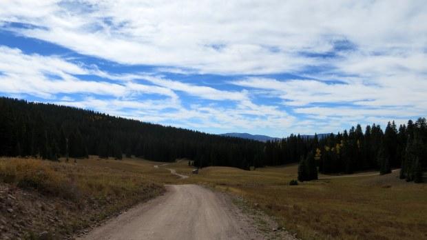 Walking from Big John Flat, Fishlake Mountains National Forest, Utah