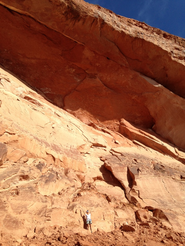 Posing under the arch, Red Cliffs National Conservation Area, Utah