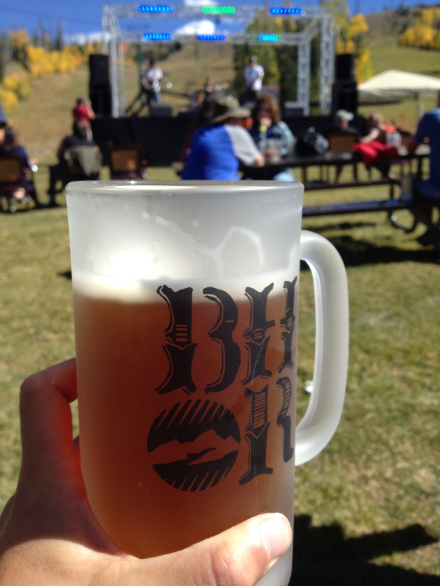 Wasatch Pumpkin Ale at Oktoberfest, Brian Head, Utah
