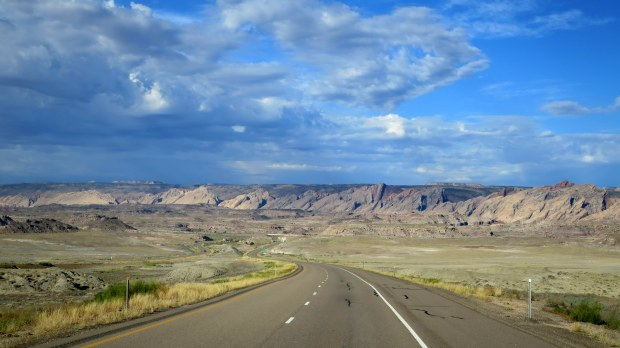 Looking at the San Rafael Reef from I-70 in Eastern Utah