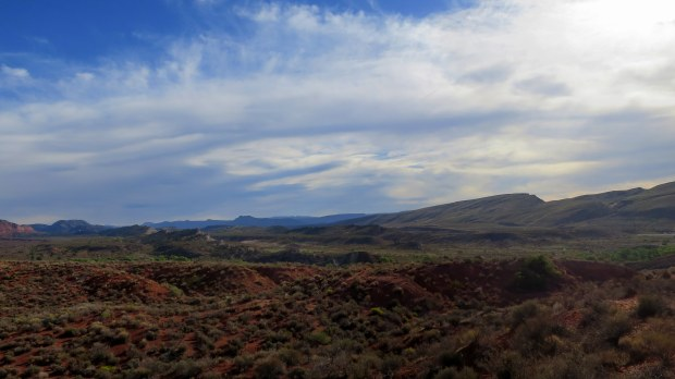 Looking backward on evidence of the Kanarra fault, Red Cliffs National Conservation Area, Utah