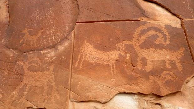 Petroglyphs, Escalante River Canyon, Grand Staircase-Escalante National Monument, Utah