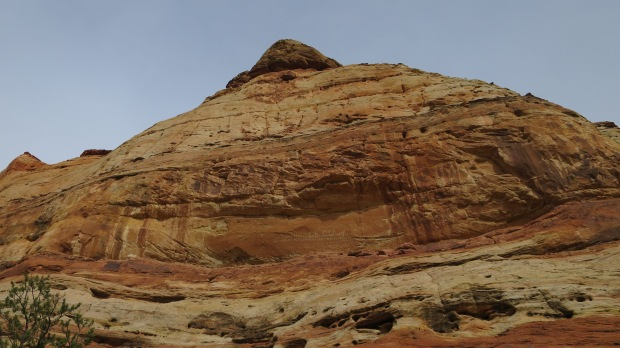 Butte with Hundred Hands Pictograph, Escalante River Canyon, Grand Staircase-Escalante National Monument, Utah