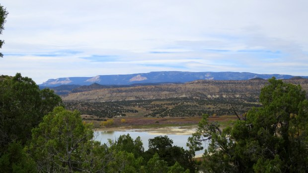 Overlooking Wide Hollow Reservoir from the Petrified Forest Trail, Escalante Petrified Forest State Park, Utah