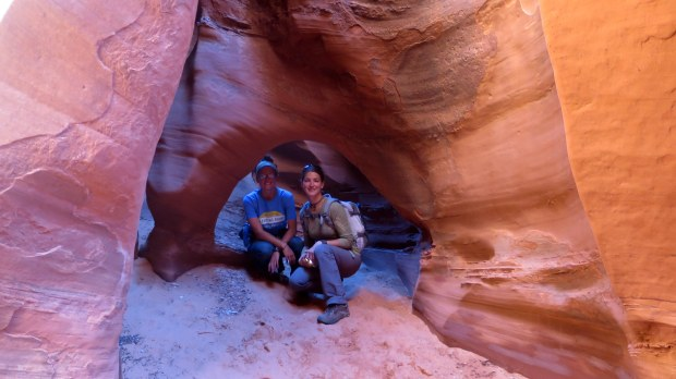 Sarah and I in Spooky Slot Canyon, Hole-in-the-Rock Road, Grand Staircase-Escalante National Monument, Utah