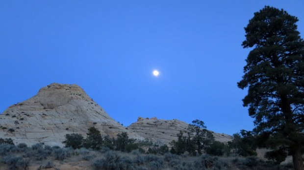 Blue sandstone at night, Burr Trail, Grand Staircase-Escalante National Monument, Utah